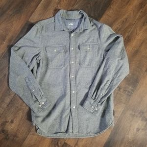 The north face gray button down shirt